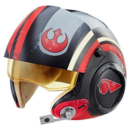 Look at that, Poe's helmet bears the rebel starbird insignia