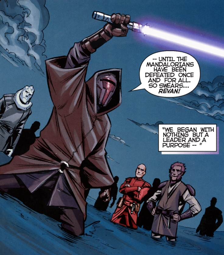 Revan before he fell to the Dark Side as seen in Dark Horse Comics KotoR by John Jackson Miller
