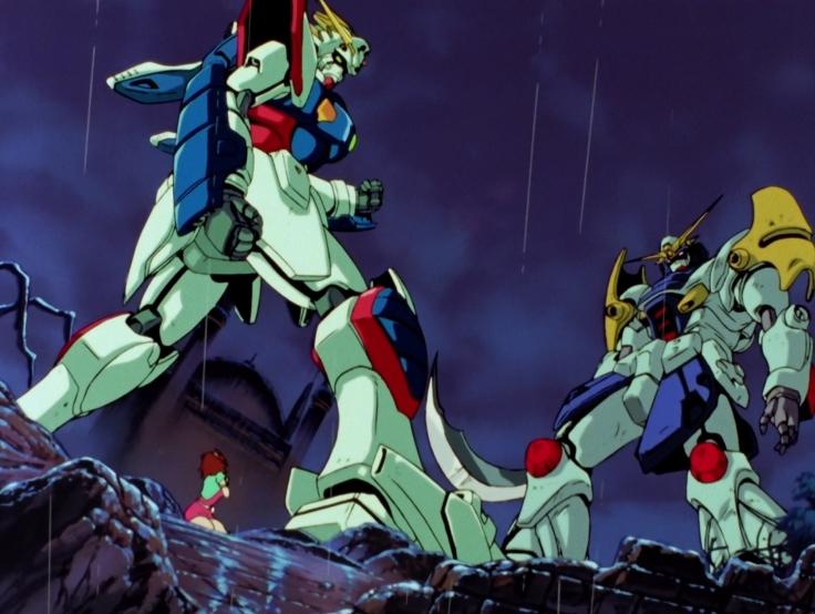 Mobile Fighter G Gundam, G Gundam, Anime, 11, Domon Kasshu, Rain Mikamura, Saette, Neo-Japan, Neo-Turkey, Dark Gundam, Devil Gundam, DG Cells, Minaret Gundam