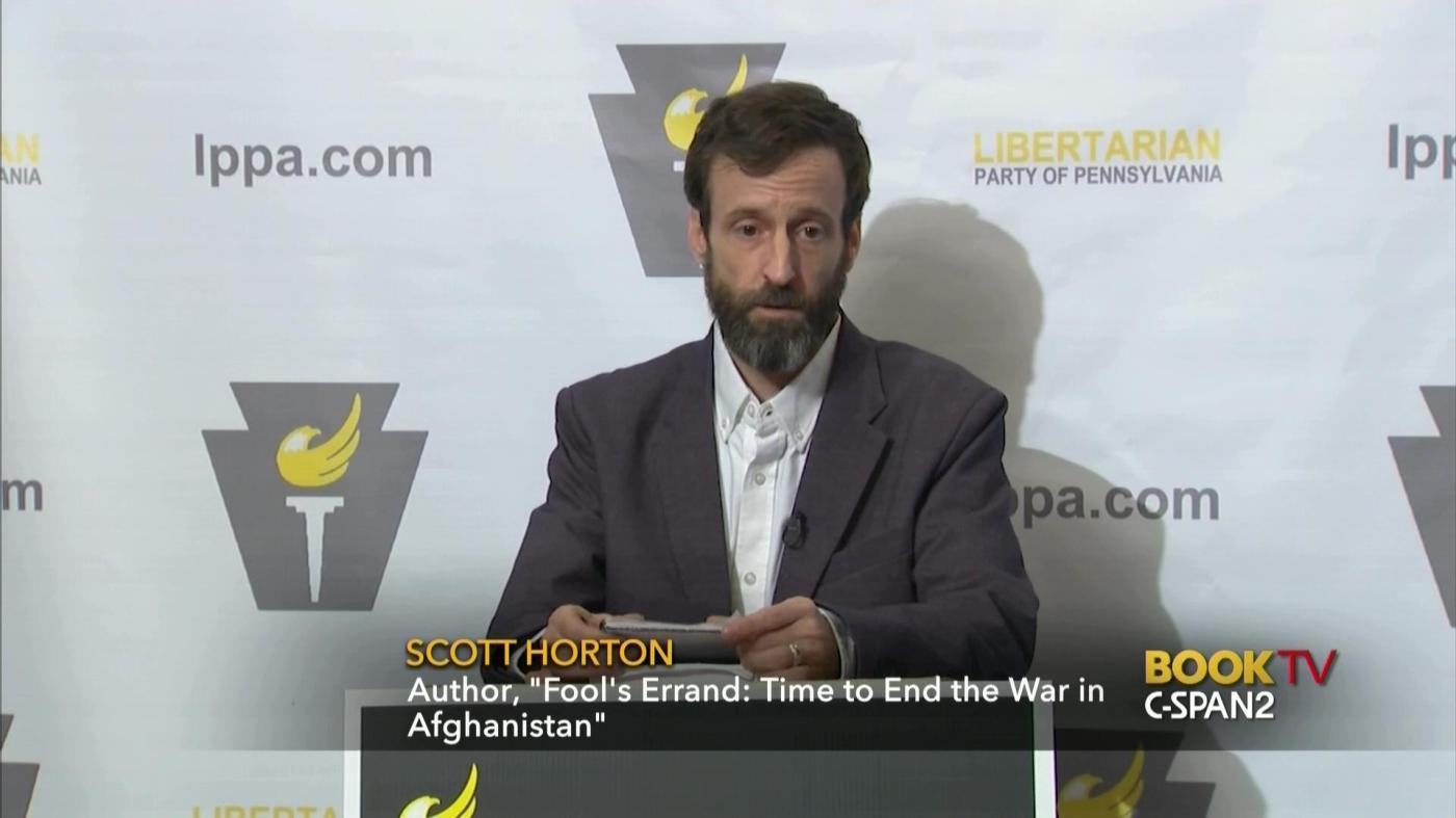 Fool's Errand, Scott Horton, Afghanistan, War