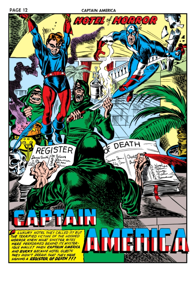 Swinging Through Comics, Captain America Comics, Issue 11, Captain America, Bucky, Hotel of Horror