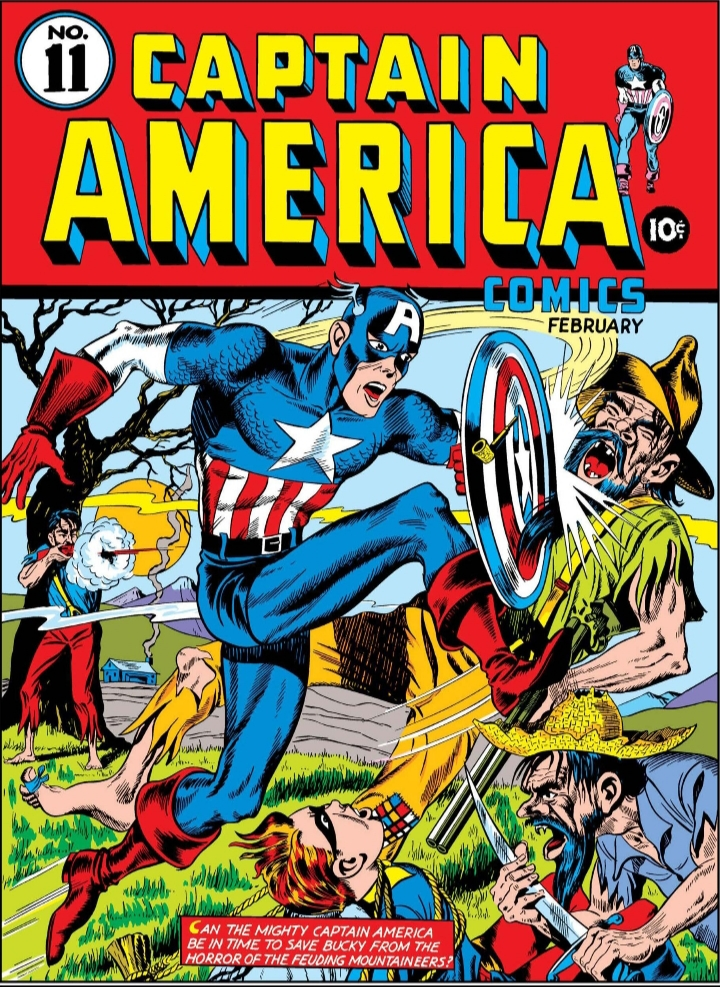 Captain America Comics 11, Captain America, Timely Comics, Marvel Comics, Cover
