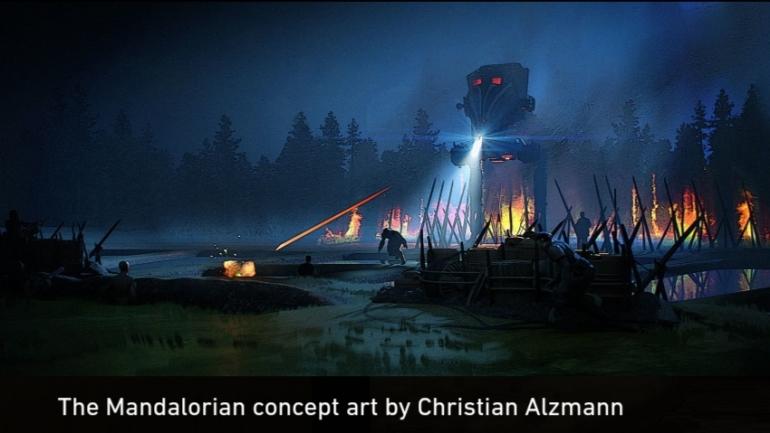 The Mandalorian, Mandalorian, Sanctuary, Fooly Operational, AT-ST attack