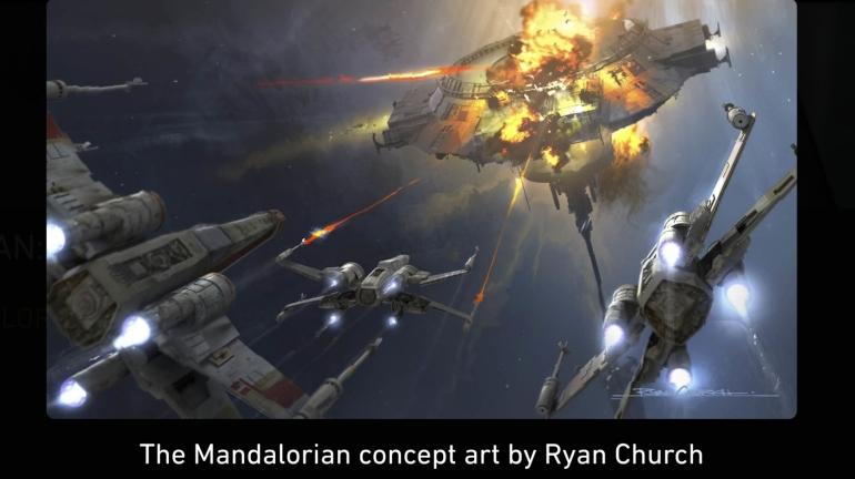 Mandalorian, Concept Art, Chapter 6, The Prisoner, X Wings
