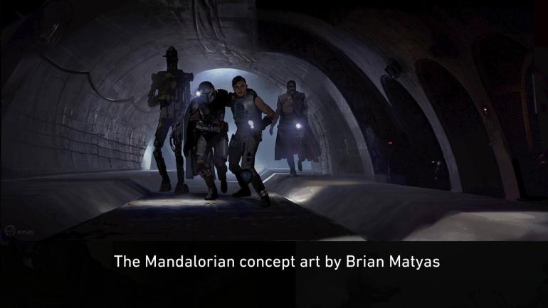 Mandalorian, Concept Art, Chapter 8, Redemption, Sewers, IG-11, Mandalorian, Cara, Child, Greff Karga