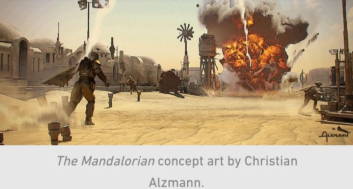Star Wars, The Mandalorian, Chapter 9, Mos Pelgo, explosion