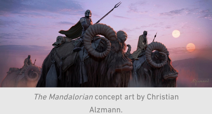 Star Wars, The Mandalorian, Chapter 9, Din Djarin, Sand People, Tusken Raiders, Bantha