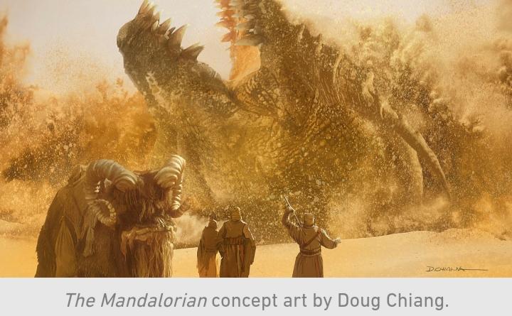 Star Wars, The Mandalorian, Chapter 9, Sand People, Tusken Raiders, Bantha, Krayt Dragon