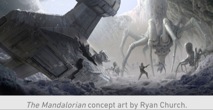 Star Wars, The Mandalorian, Chapter 10, Din Djarin, Ice, Spiders, Razor Crest, Giant