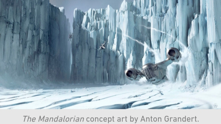 Star Wars, The Mandalorian, Chapter 10, Ice, X-Wing, Chase, Razor Crest