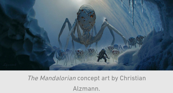 Star Wars, The Mandalorian, Chapter 10, Din Djarin, Ice, Spiders, Giant